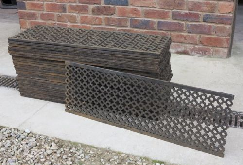 Reclaimed Rare Victorian Gothic Cast Iron Church Floor Grilles