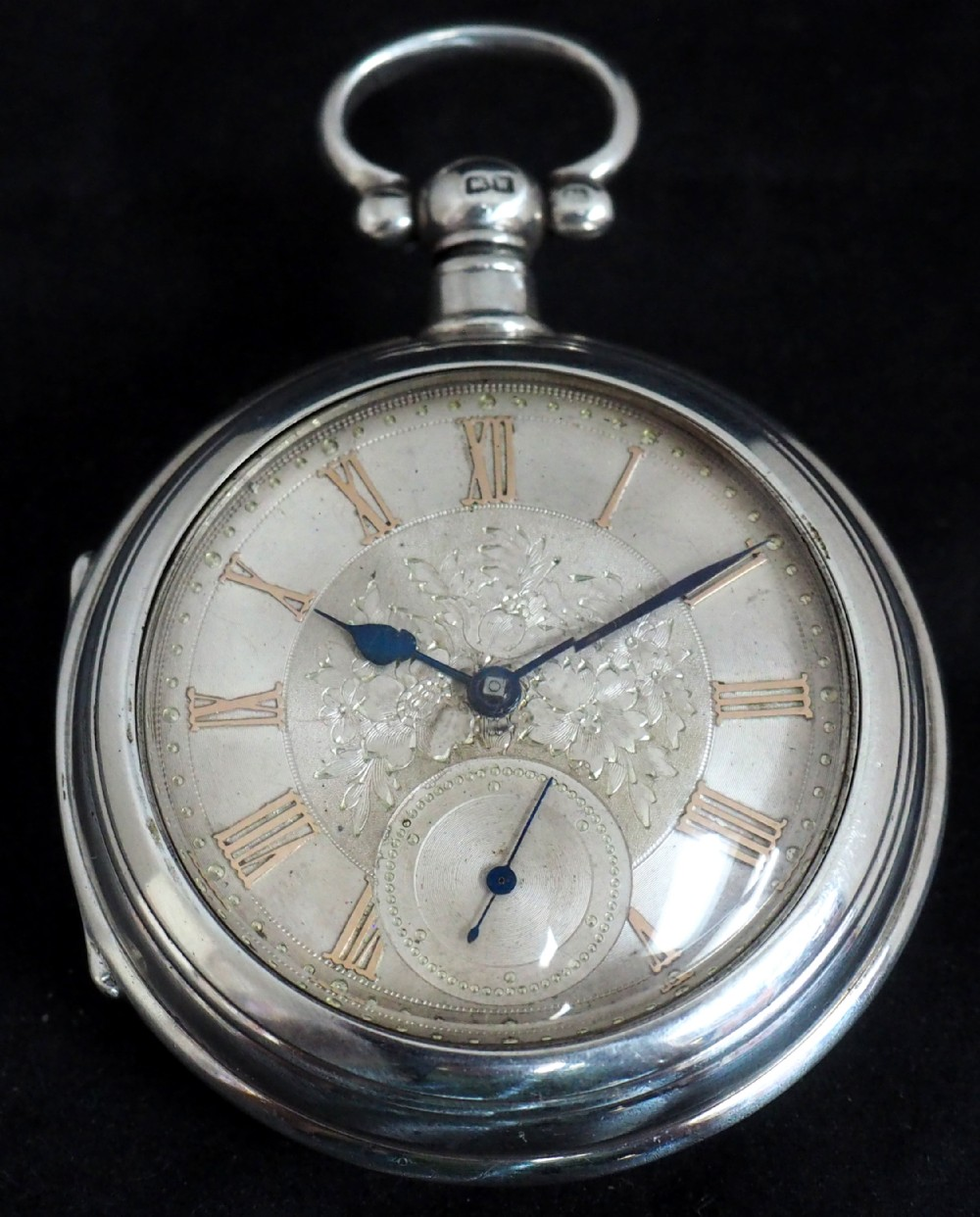 antique silver pair case pocket watch fusee lever escapement key wind silver huntley losstemouth a simpson