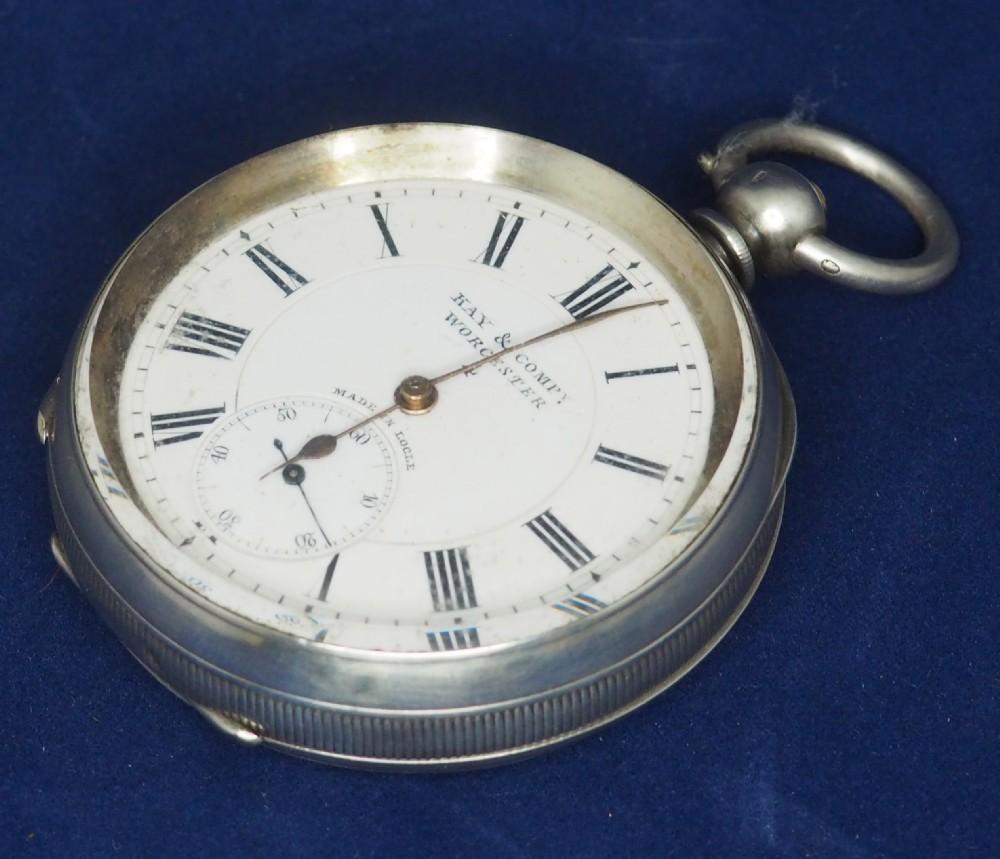 antique silver pocket watch keyless wind open face pocket watch kay comp