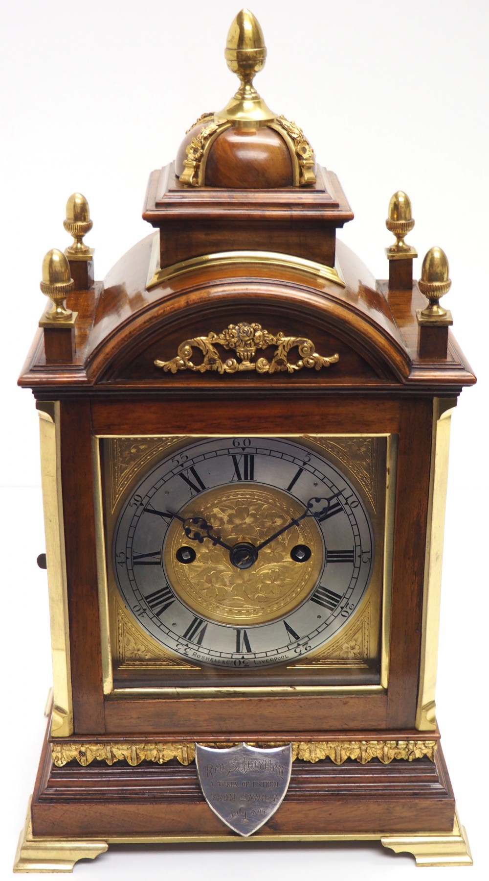 antique english 8 day twin fusee bracket clock 8day striking double fusee mantel clock roskin liverpool