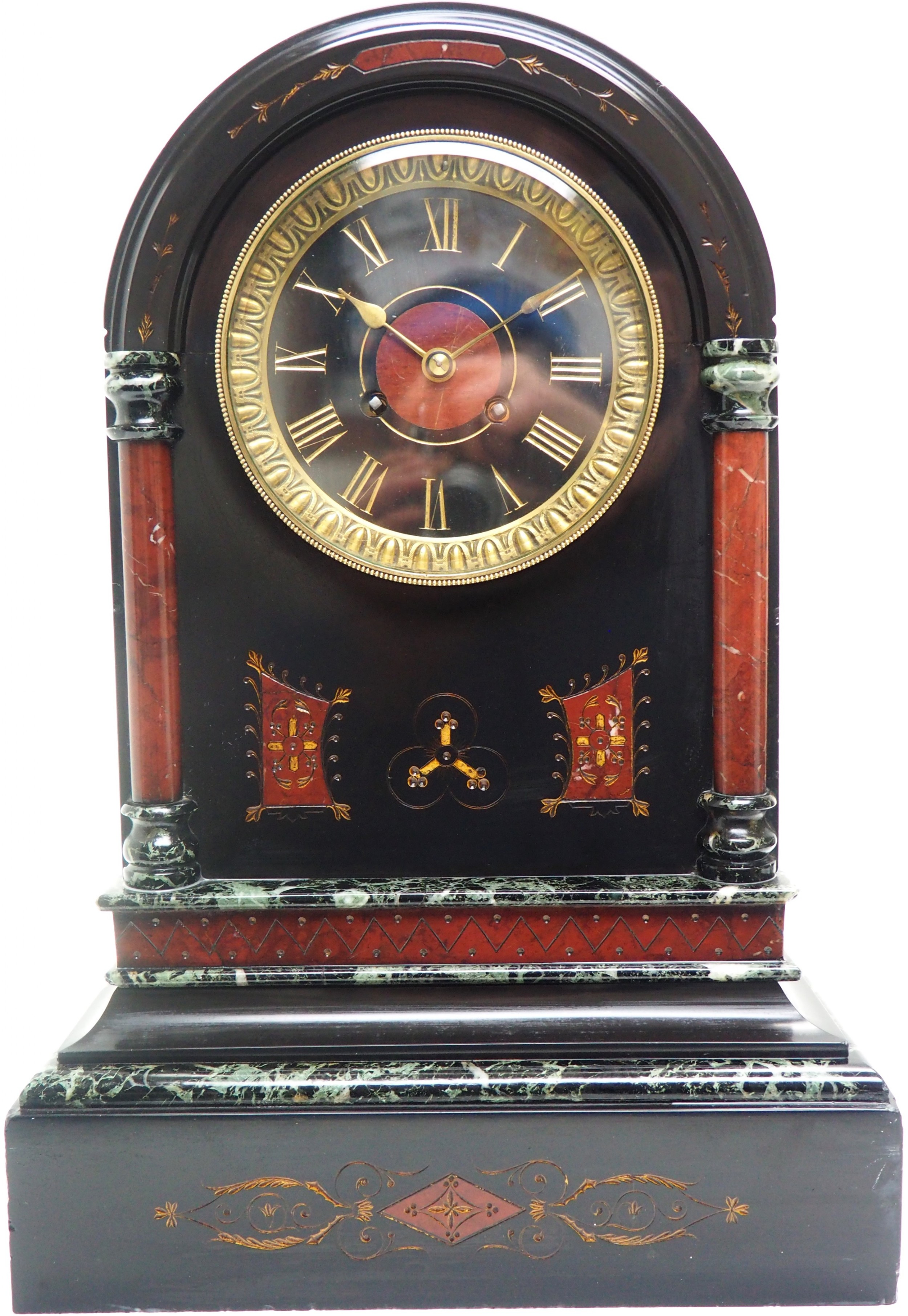 wow amazing french slate marble mantel clock 8 day striking mantle clock