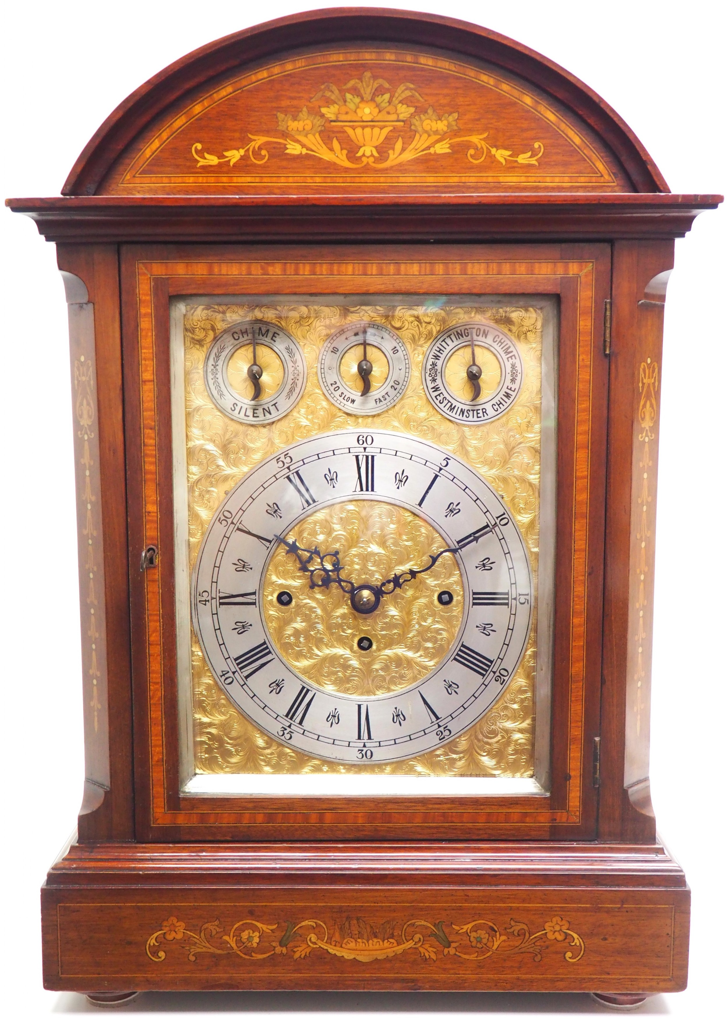 antique musical westminster chime bracket clock 8bell 5coiled gong triple fusee tiny clock on bracket