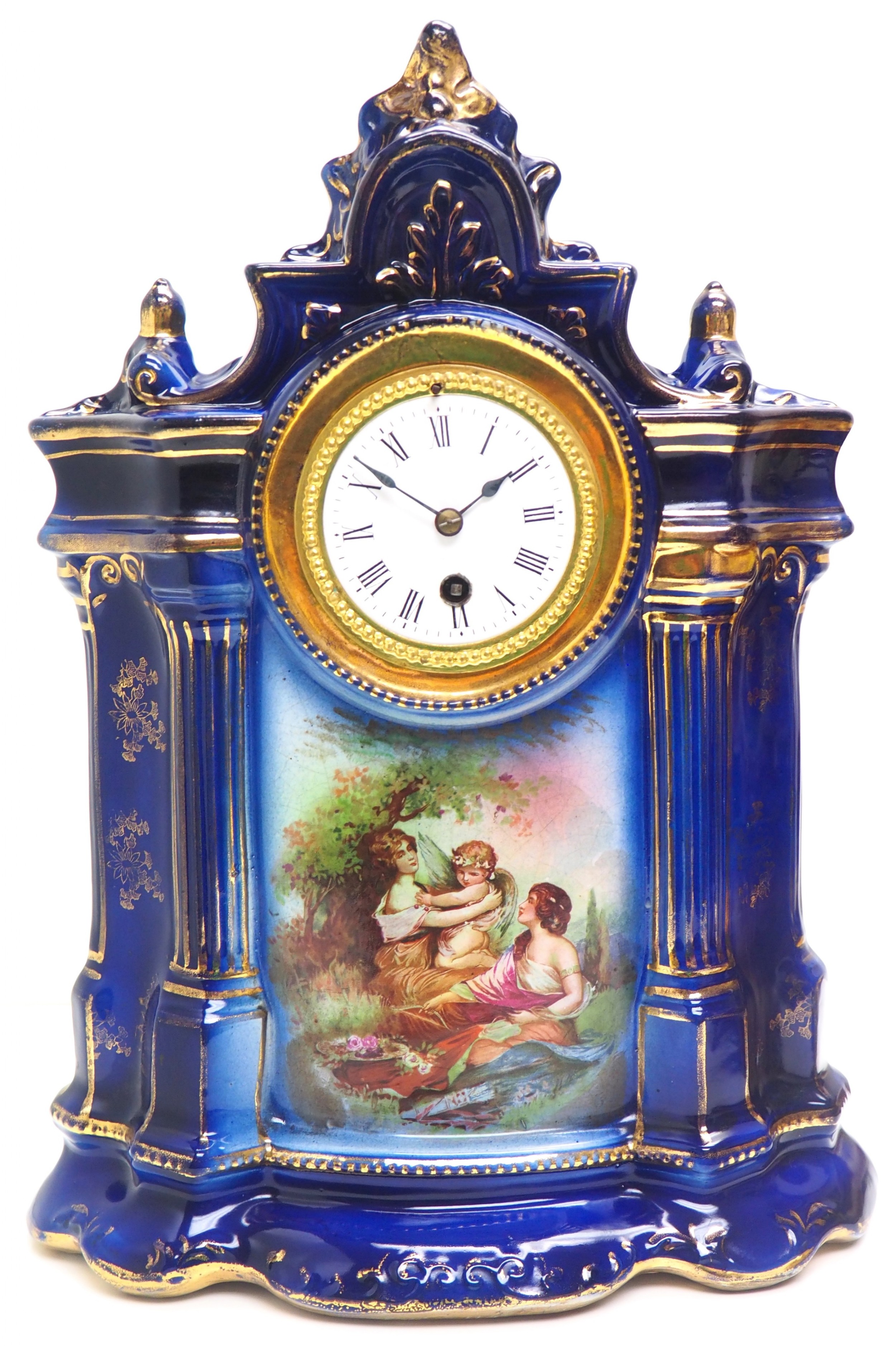 antique 8day porcelain mantel clock classical french mantle clock