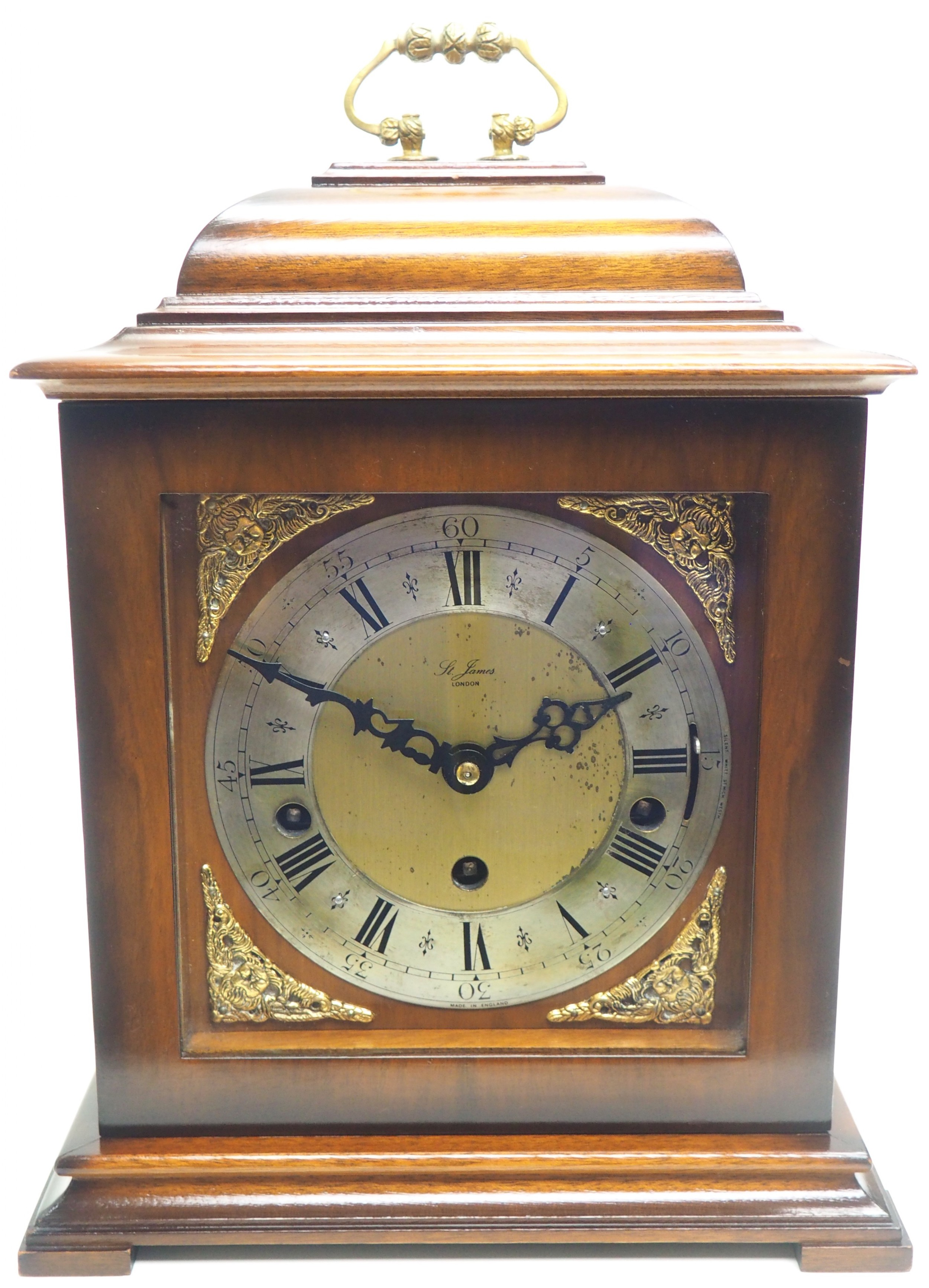 incredible sold mahogany mantel clock westminster chime triple musical bracket clock by st james london