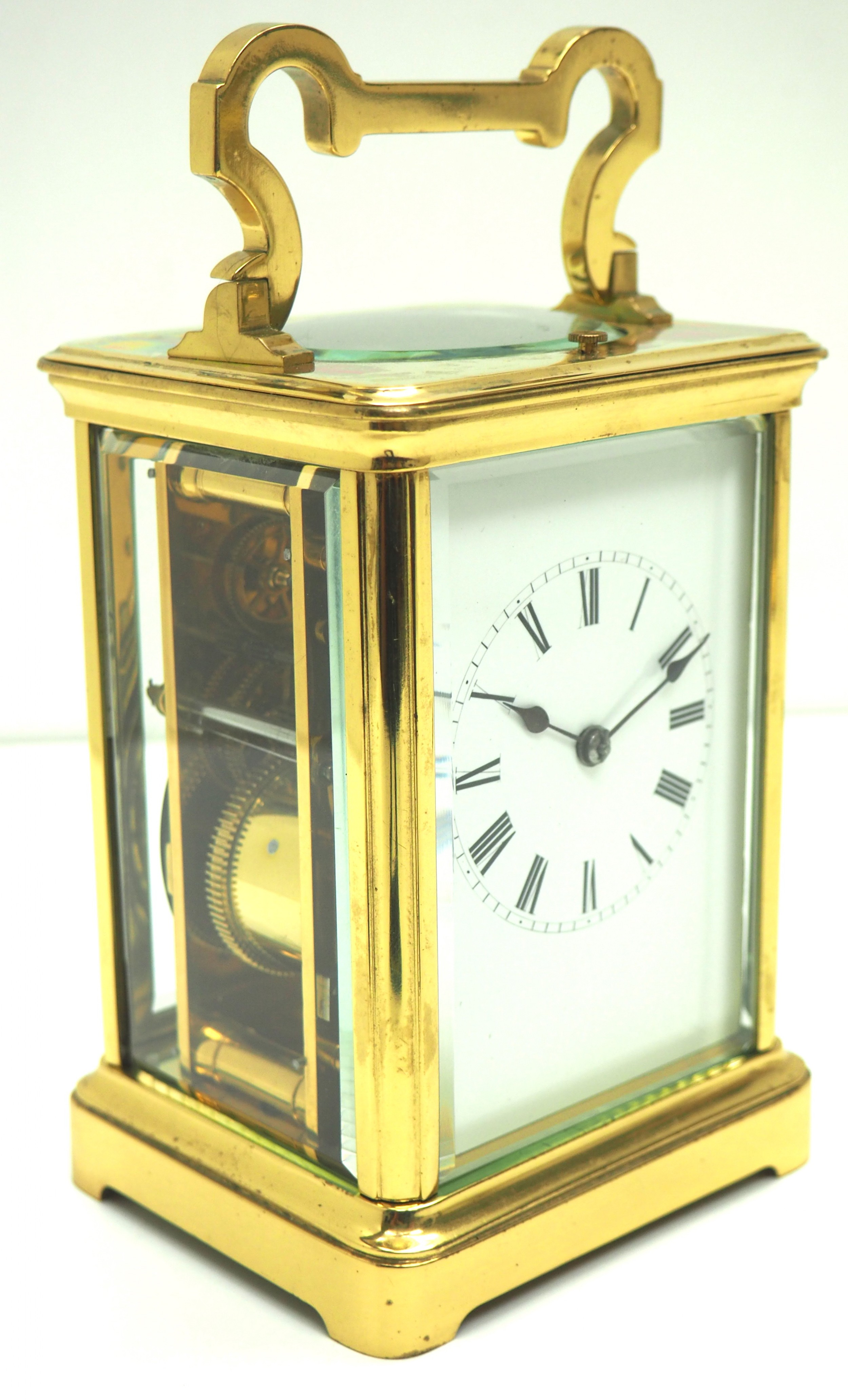 large classic antique french 8day gong striking repeating carriage clock c1880