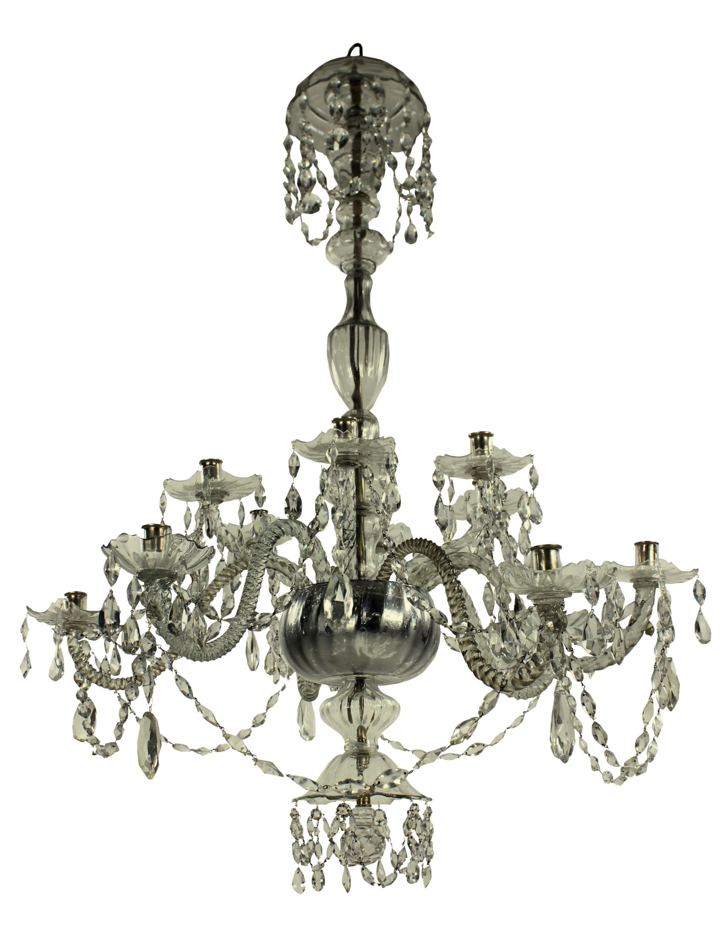 a large early xix century venetian chandelier