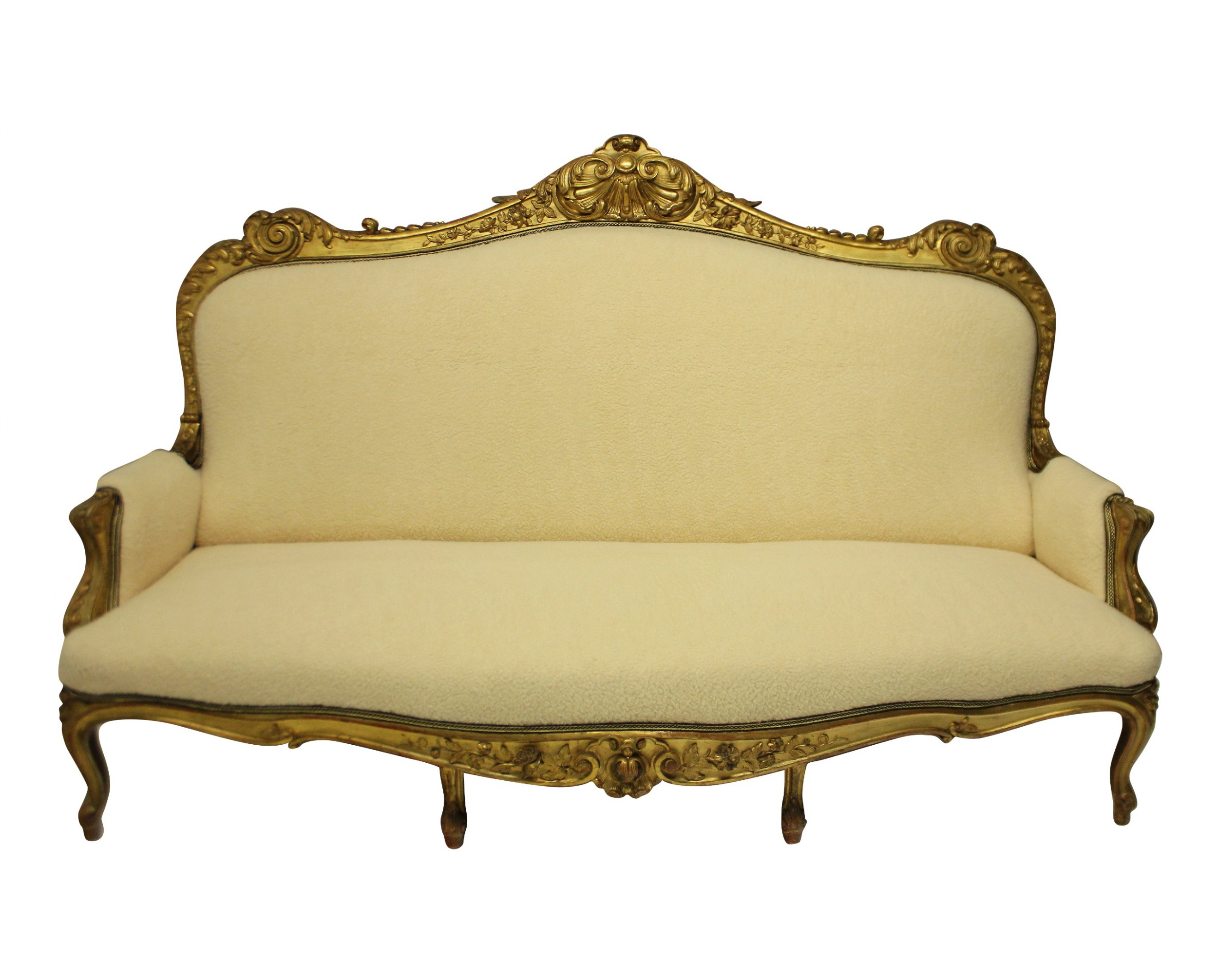 a large english giltwood settee