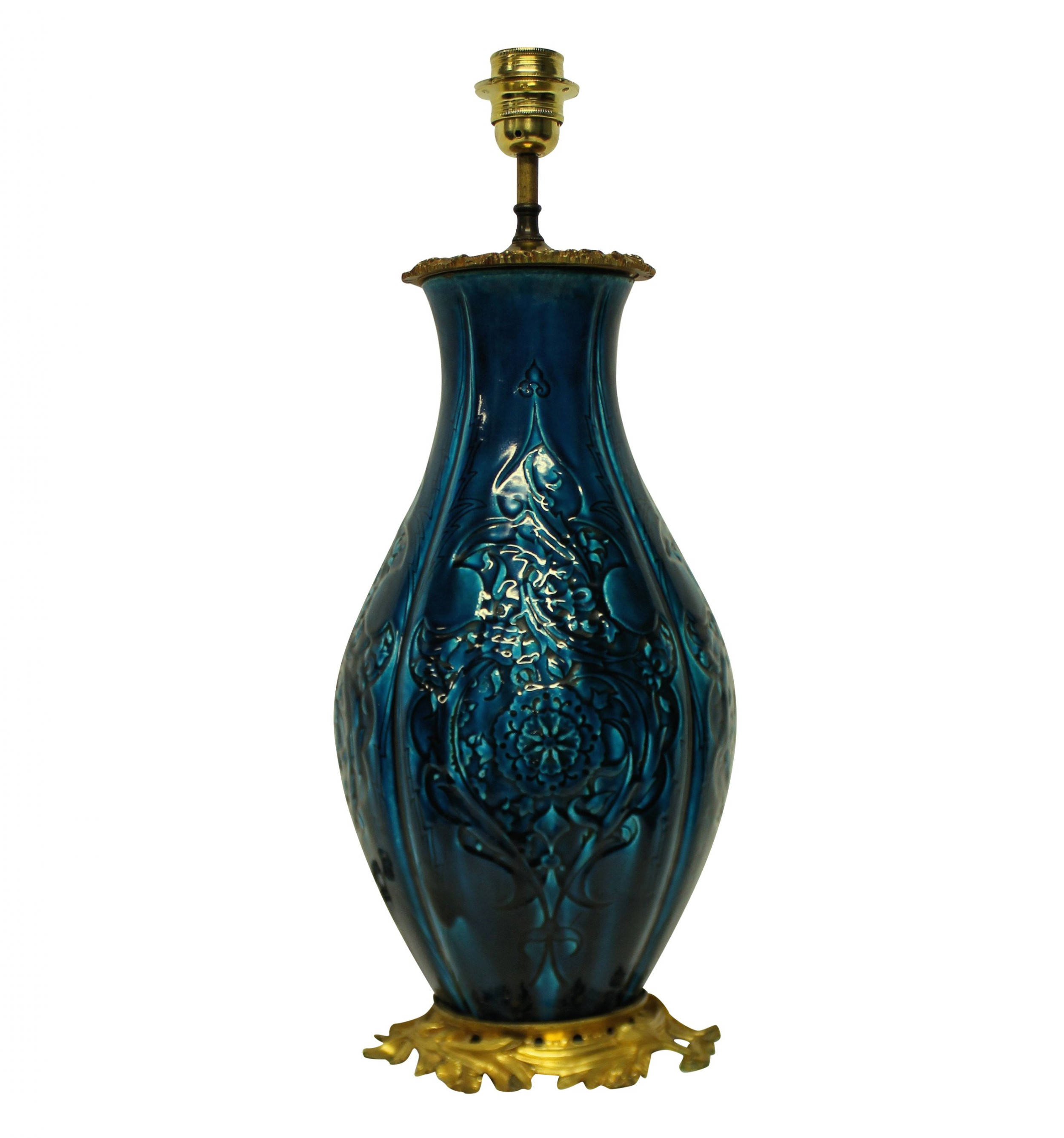 a chinese vase lamp with ormolu mounts