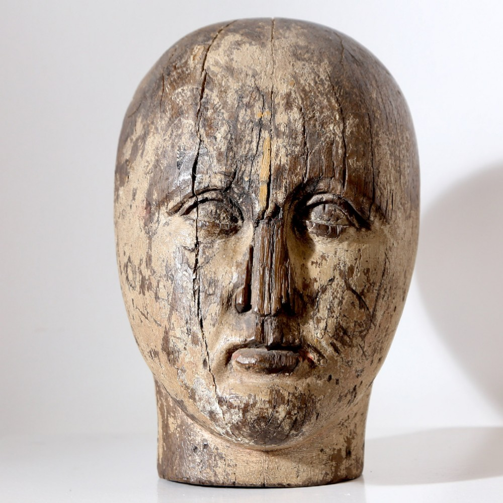 an 18th century mannequin head