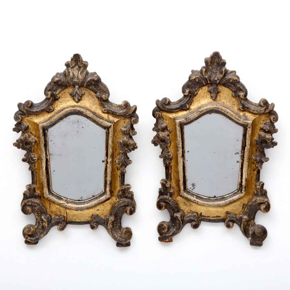 a pair of 19th century italian mirrors