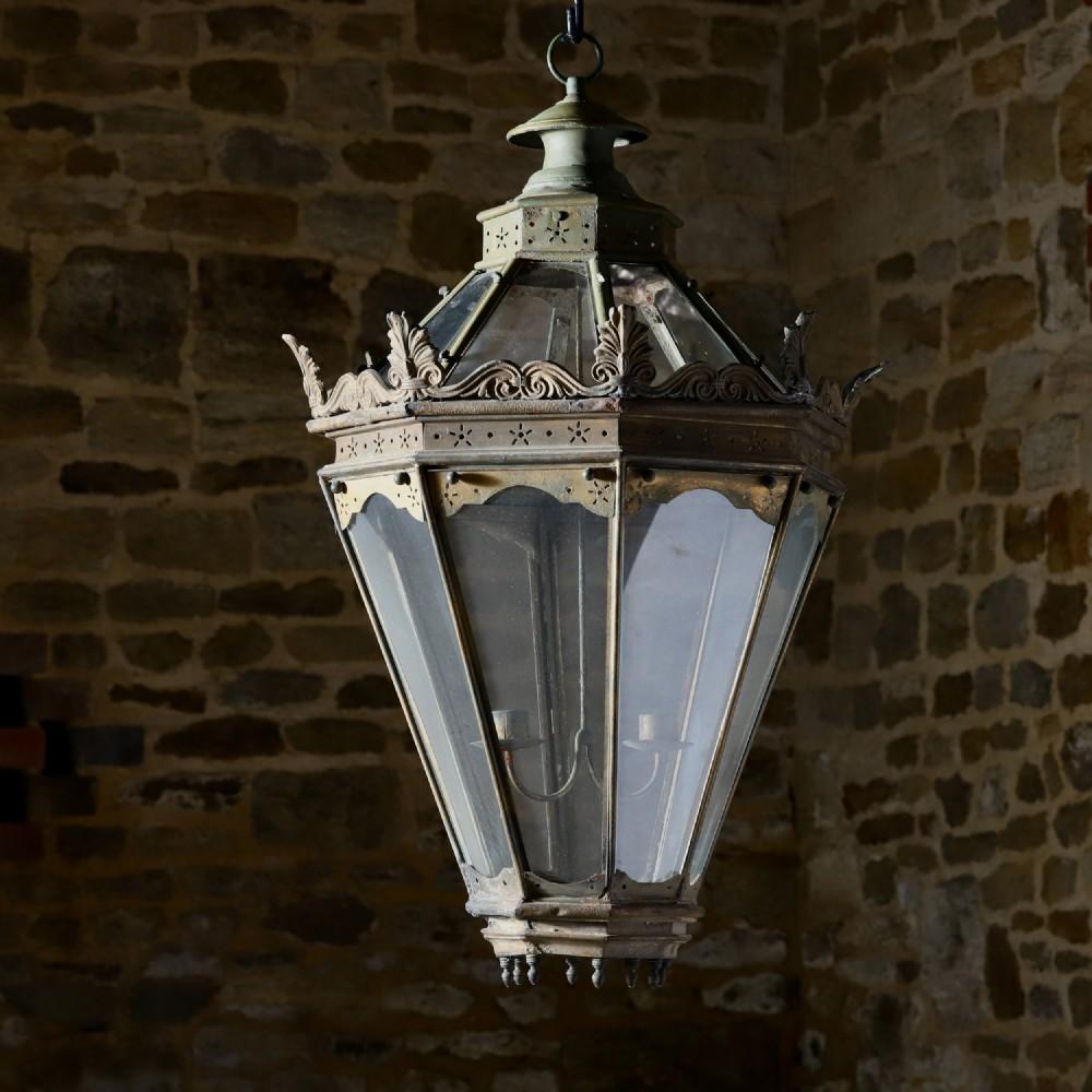 a 19th century octagonal lantern
