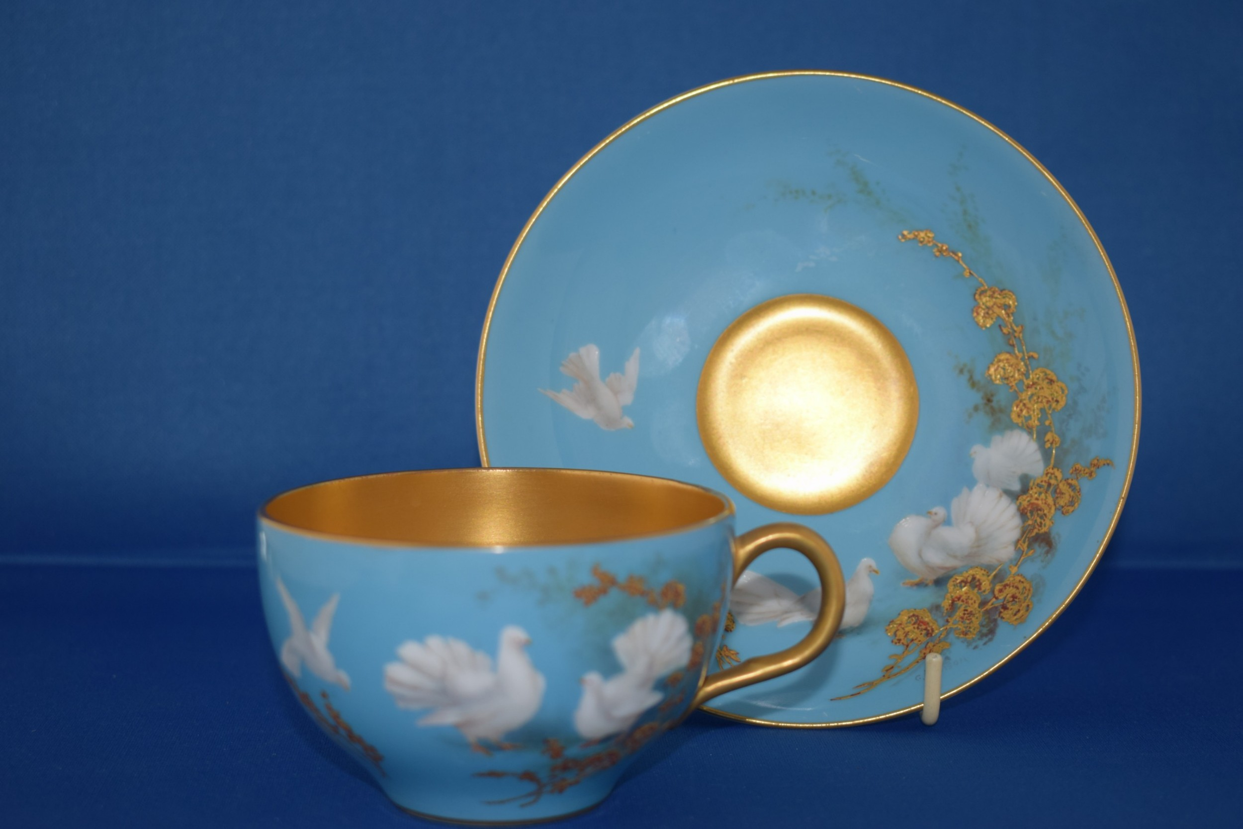 royal worcester artist signed cup and saucer