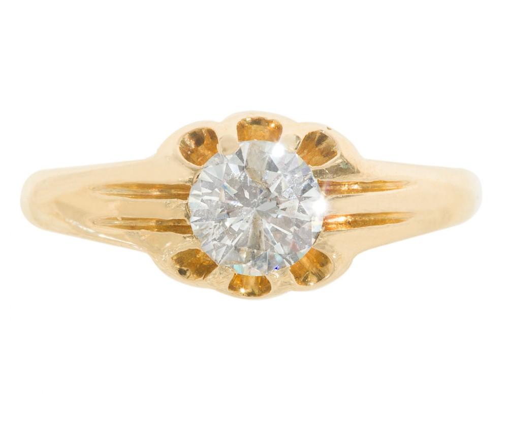 gentlemans solitaire diamond ring