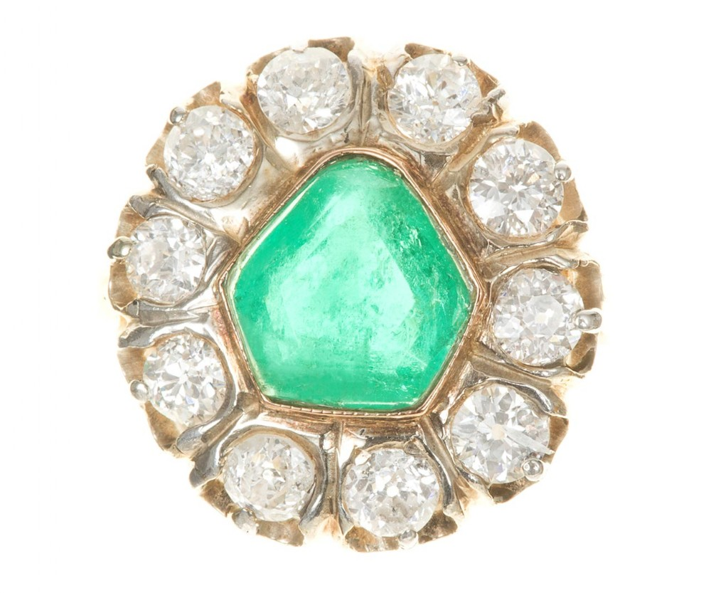 emerald diamond ring circa 1940