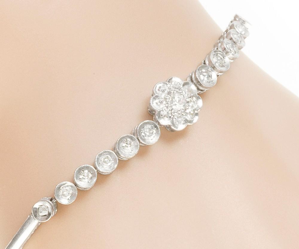 art deco diamond daisy bracelet