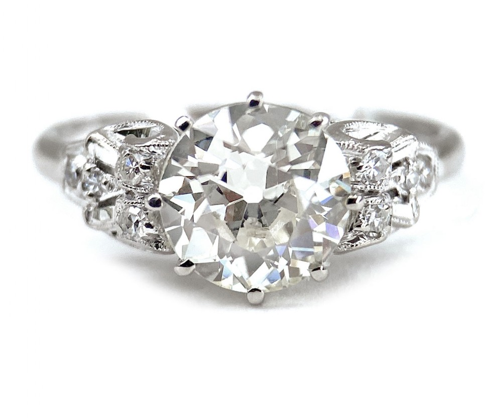 art deco solitaire diamond ring 216 carats weighed