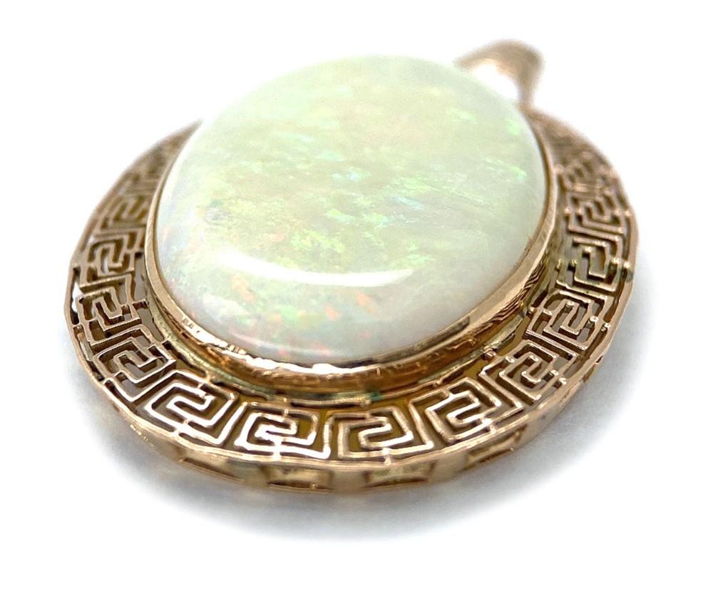 opal solitaire pendant
