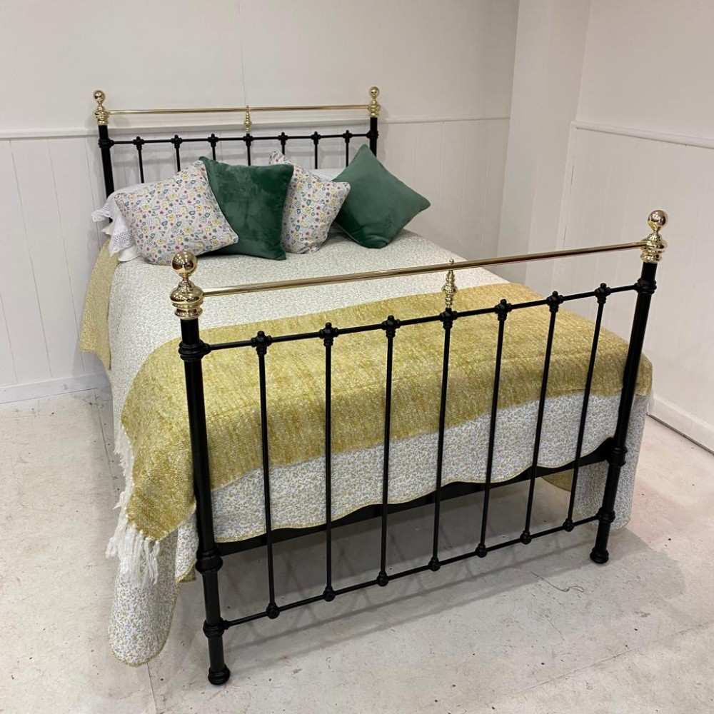 antique spanish brass iron double bed