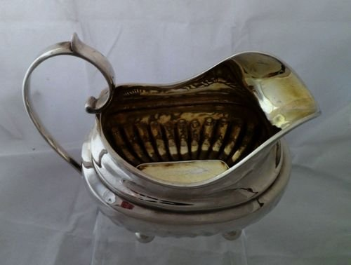 large george iii solid silver cream jug alice george burrows 1815 - photo angle #2