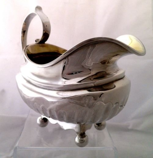large george iii solid silver cream jug alice george burrows 1815 - photo angle #3