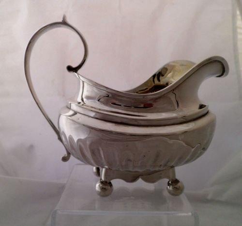 large george iii solid silver cream jug alice george burrows 1815