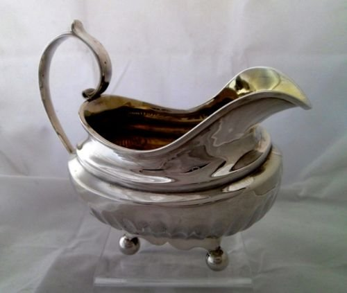 large george iii solid silver cream jug alice george burrows 1815 - photo angle #5