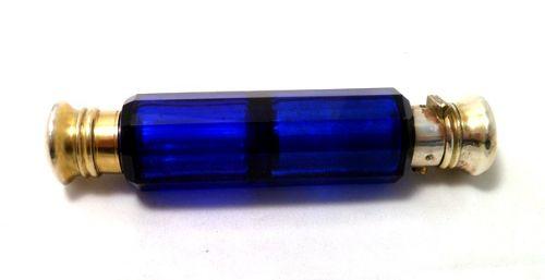 Antique Bristol Blue Glass Bristol Blue Glass And