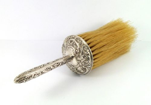 William Comyns Antique Solid Silver Table Crumb Brush London 1906