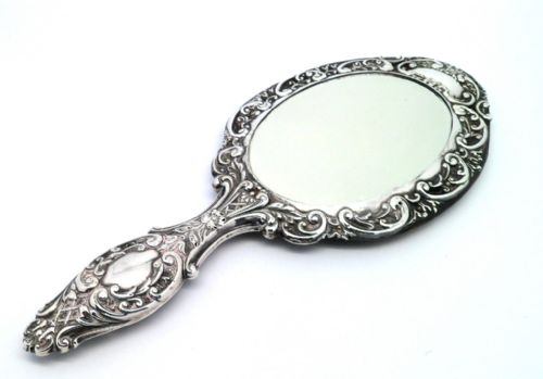 Ornate Hand Mirror Drawing
