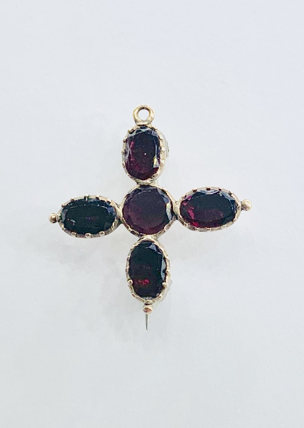 late georgian gold and garnet combined pendant and brooch c1820