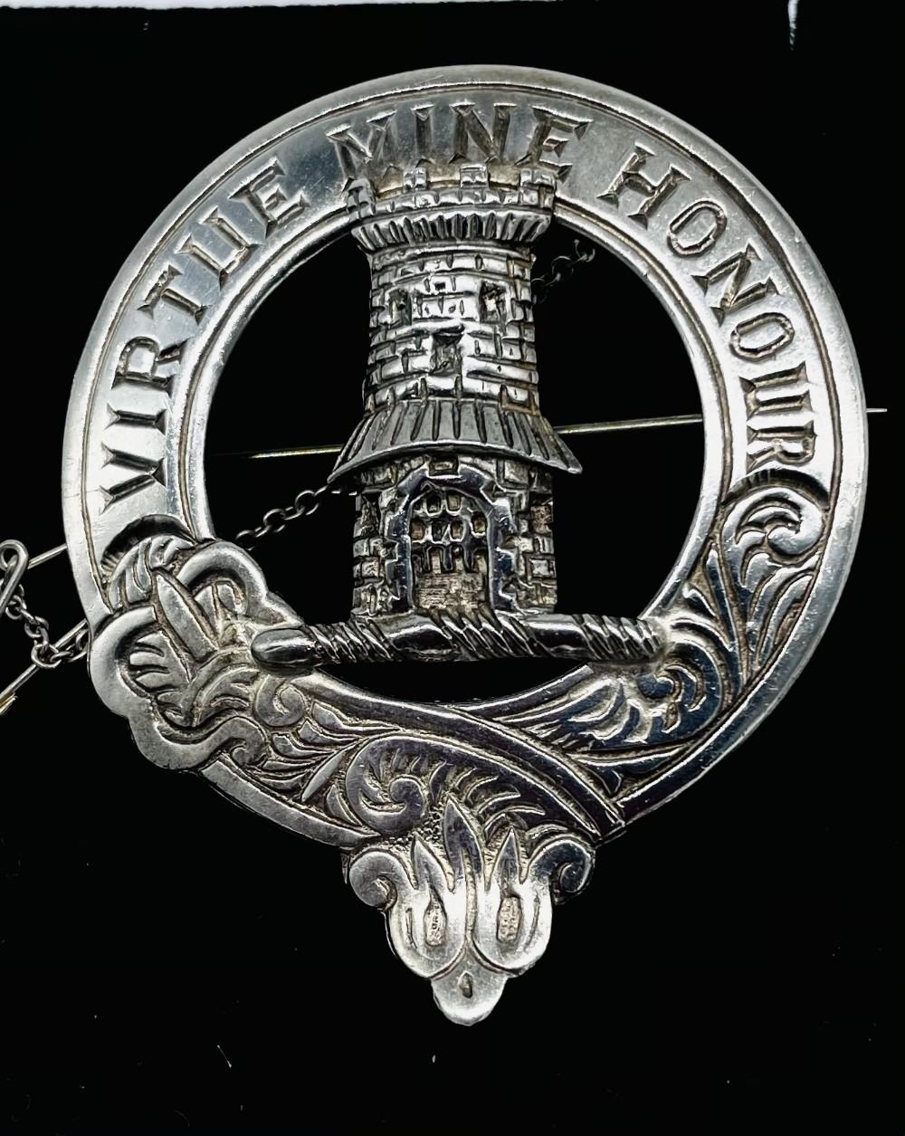 quality edinburgh solid silver mclean clan brooch hallmarked edinburgh 1969 john fraser
