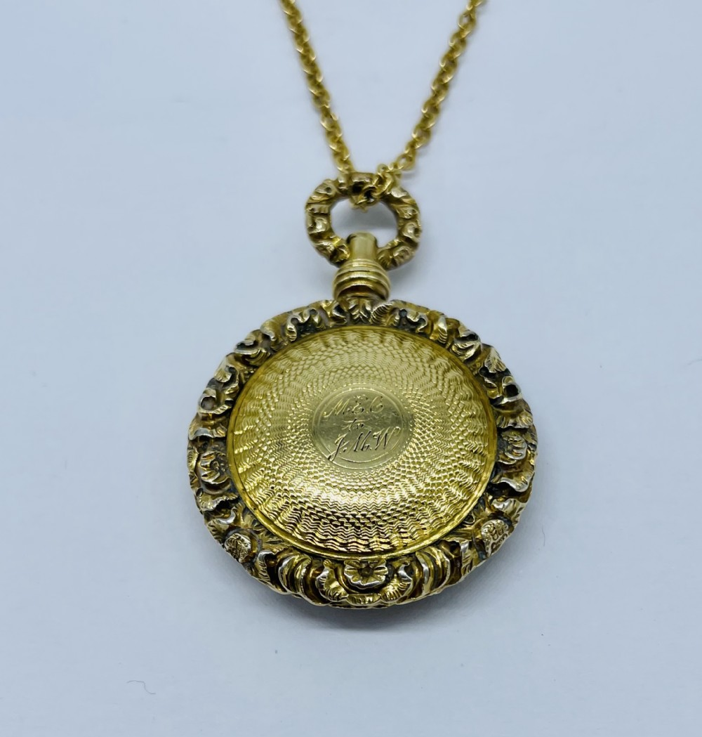 victorian 9ct gold locket c1870 and 18ct gold chain