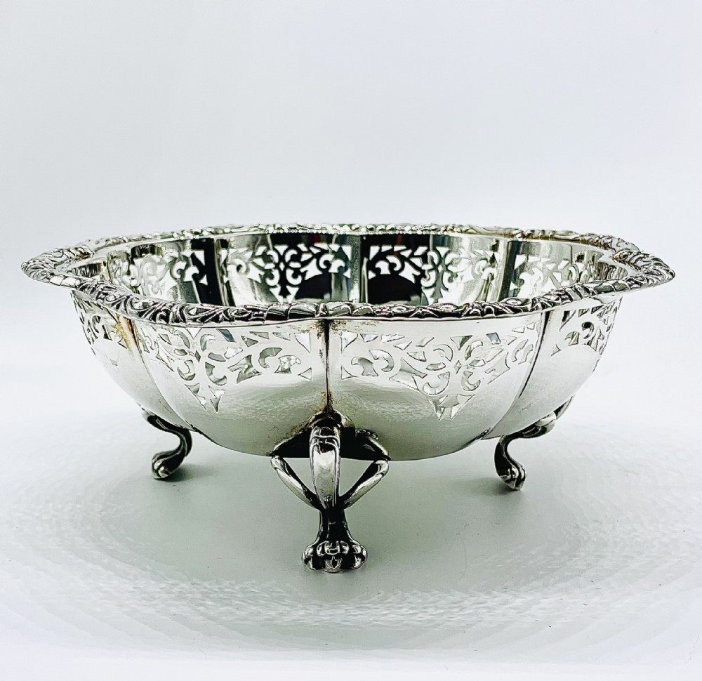 very large solid silver fruit bowl czechoslovakia 1926 otto schultz