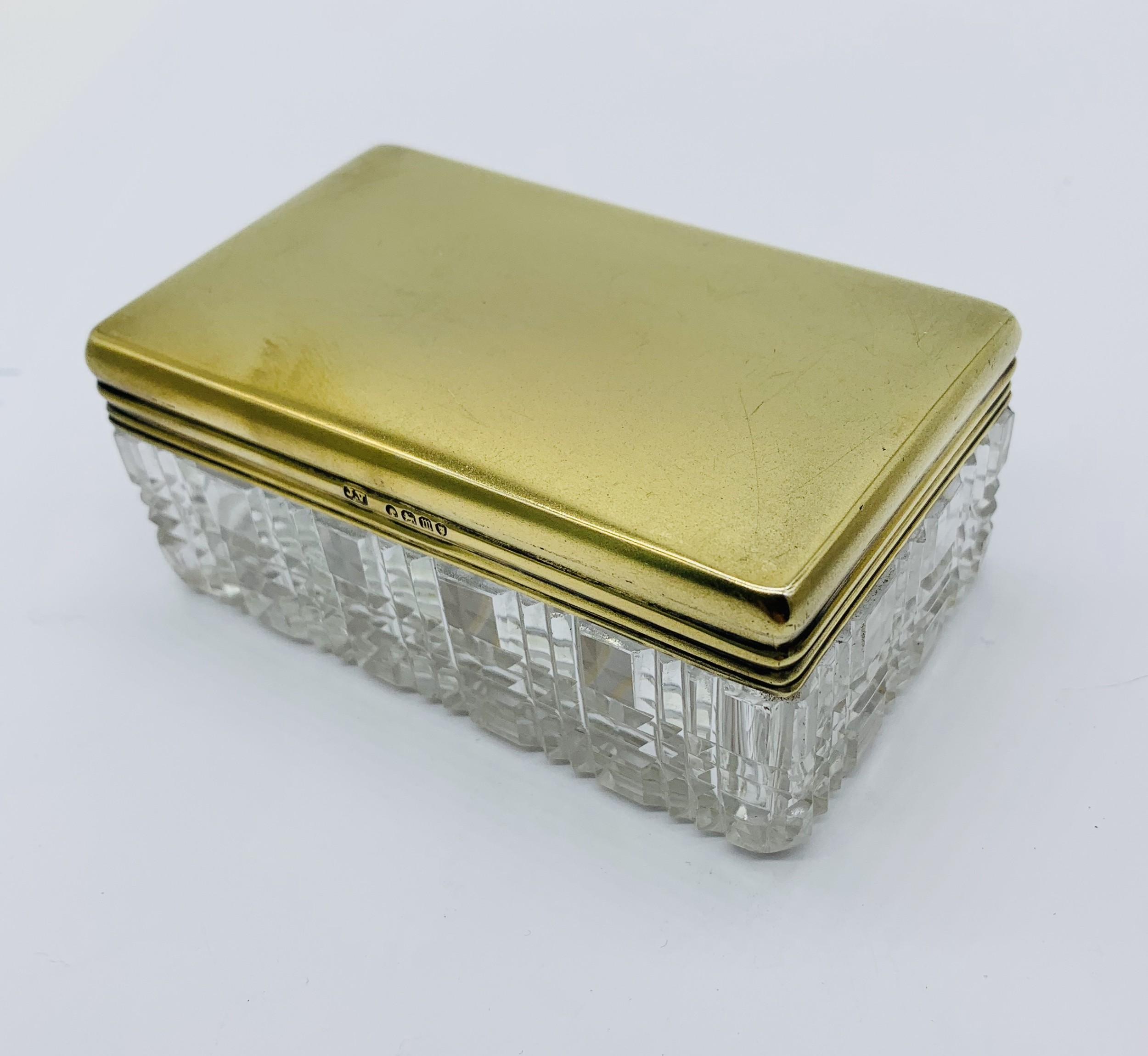 victorian solid silver gilt dressing table box london 1887