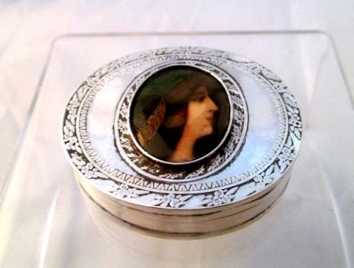 victorian solid silver and enamel snuff pill box london 1897