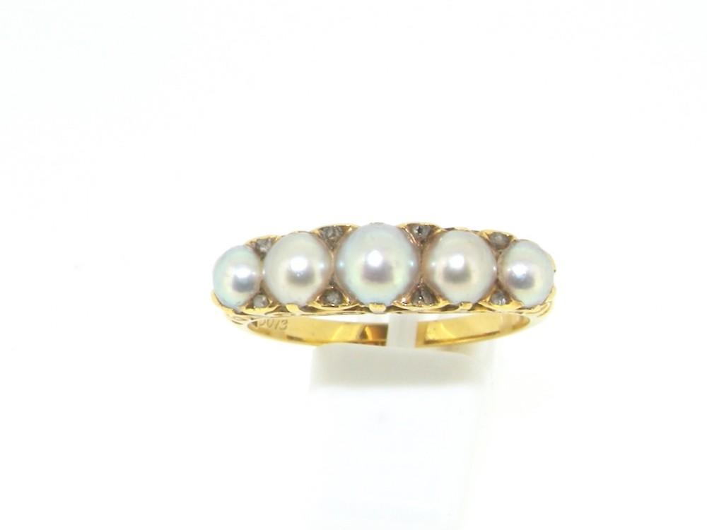 a victorian pearl diamond ring