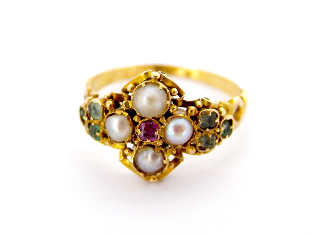 a pretty early victorian dress ring
