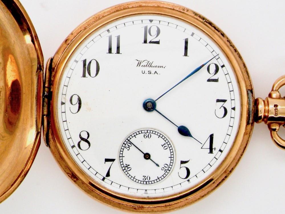 a 9 carat gold full hunter pocket watch