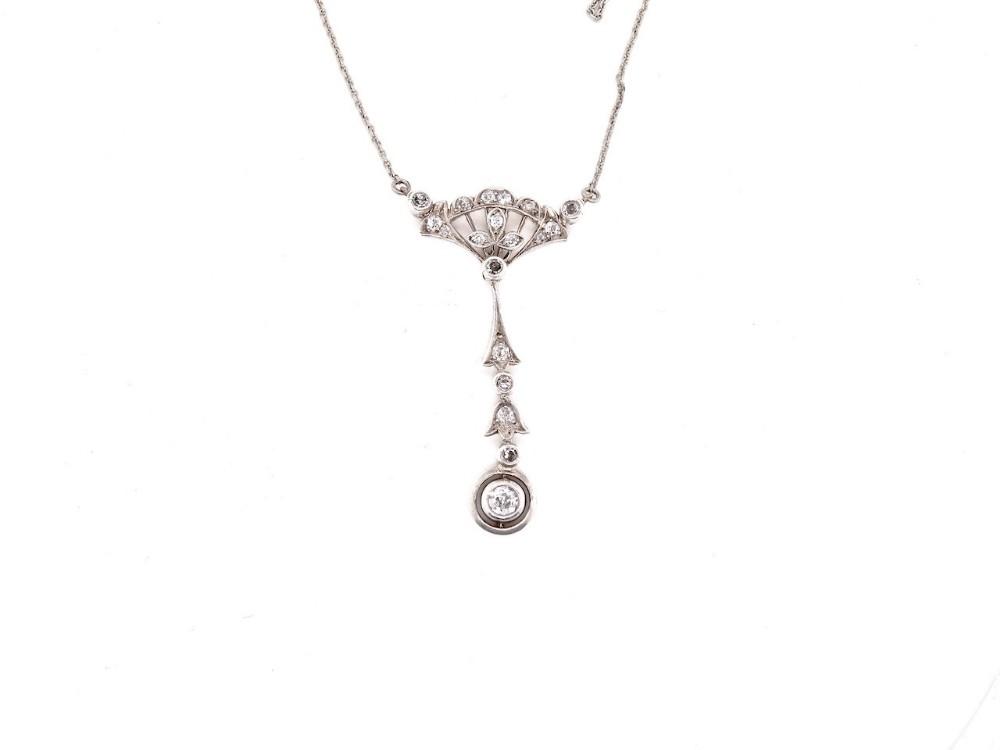a fine edwardian diamond pendant