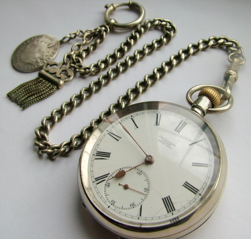 Antique 1910 Omega Pocket Watch   Chain  27037e1ee6