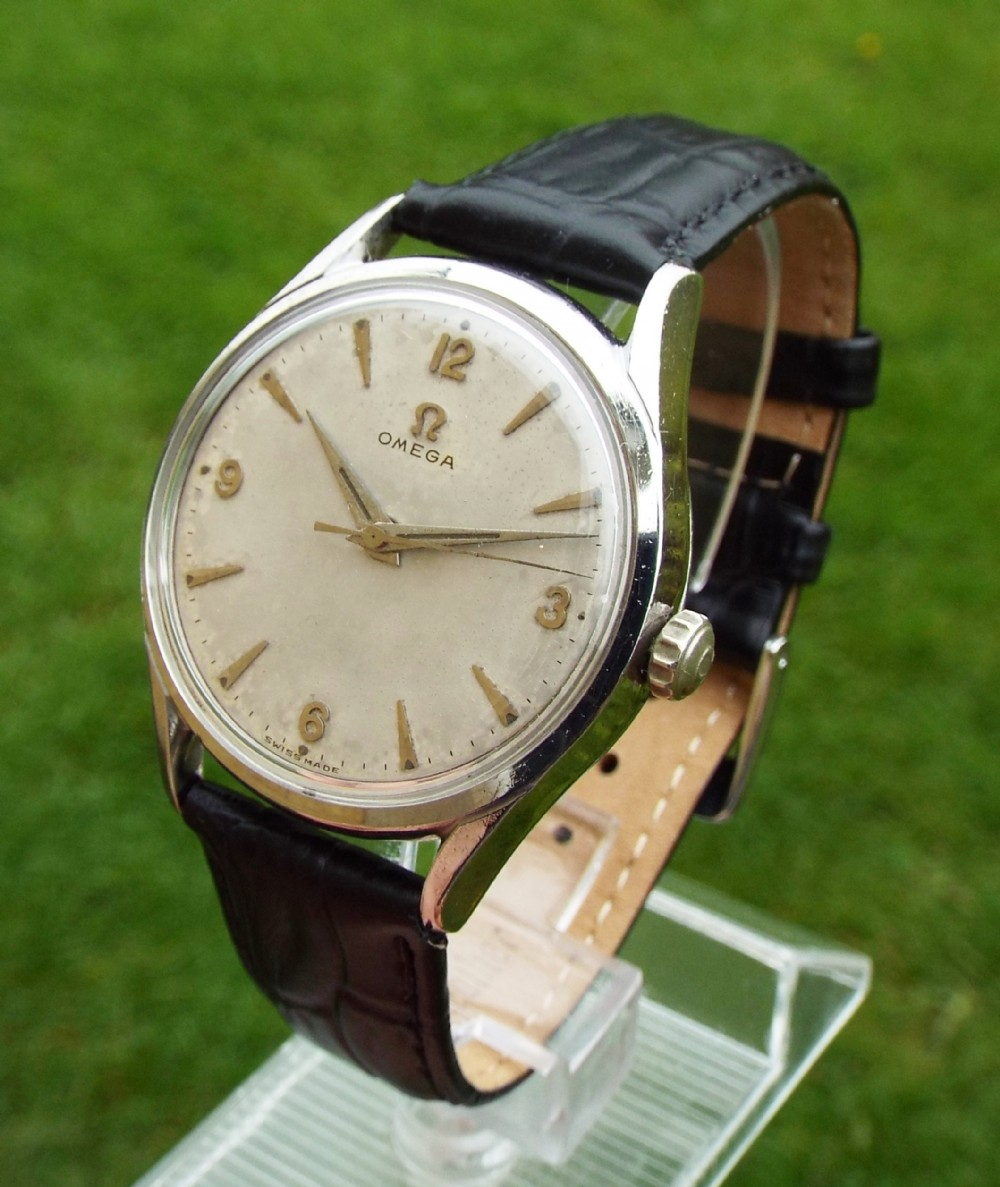 a gents 1950s omega wrist watch