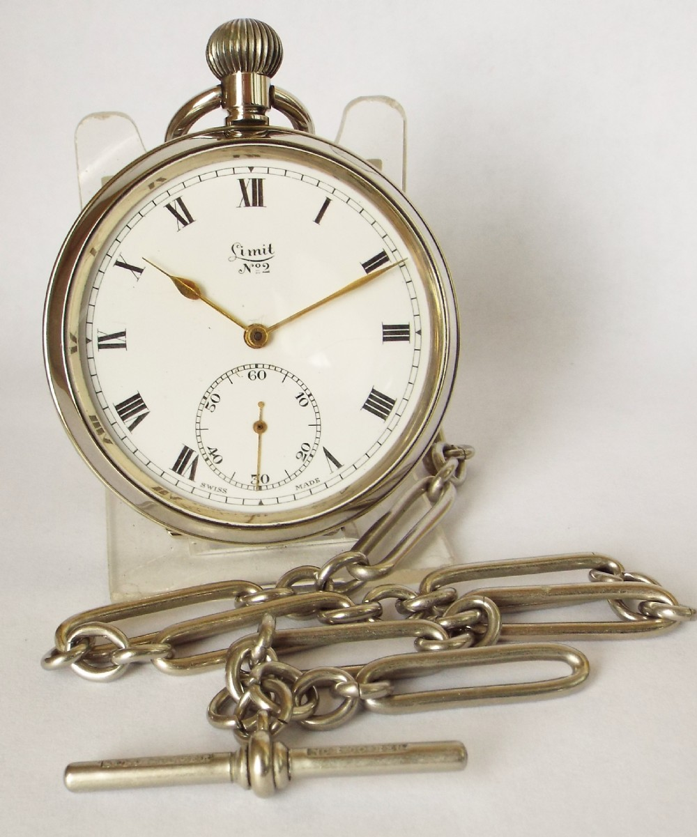a 1930s limit no 2 pocket watch and chain