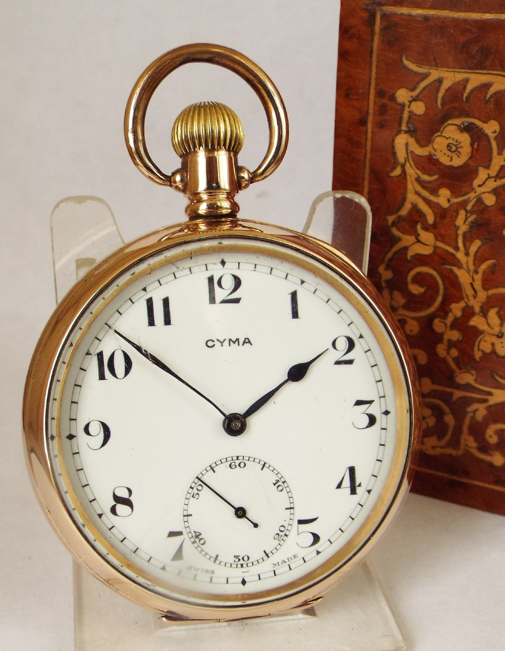 a vintage 1930s cyma pocket watch