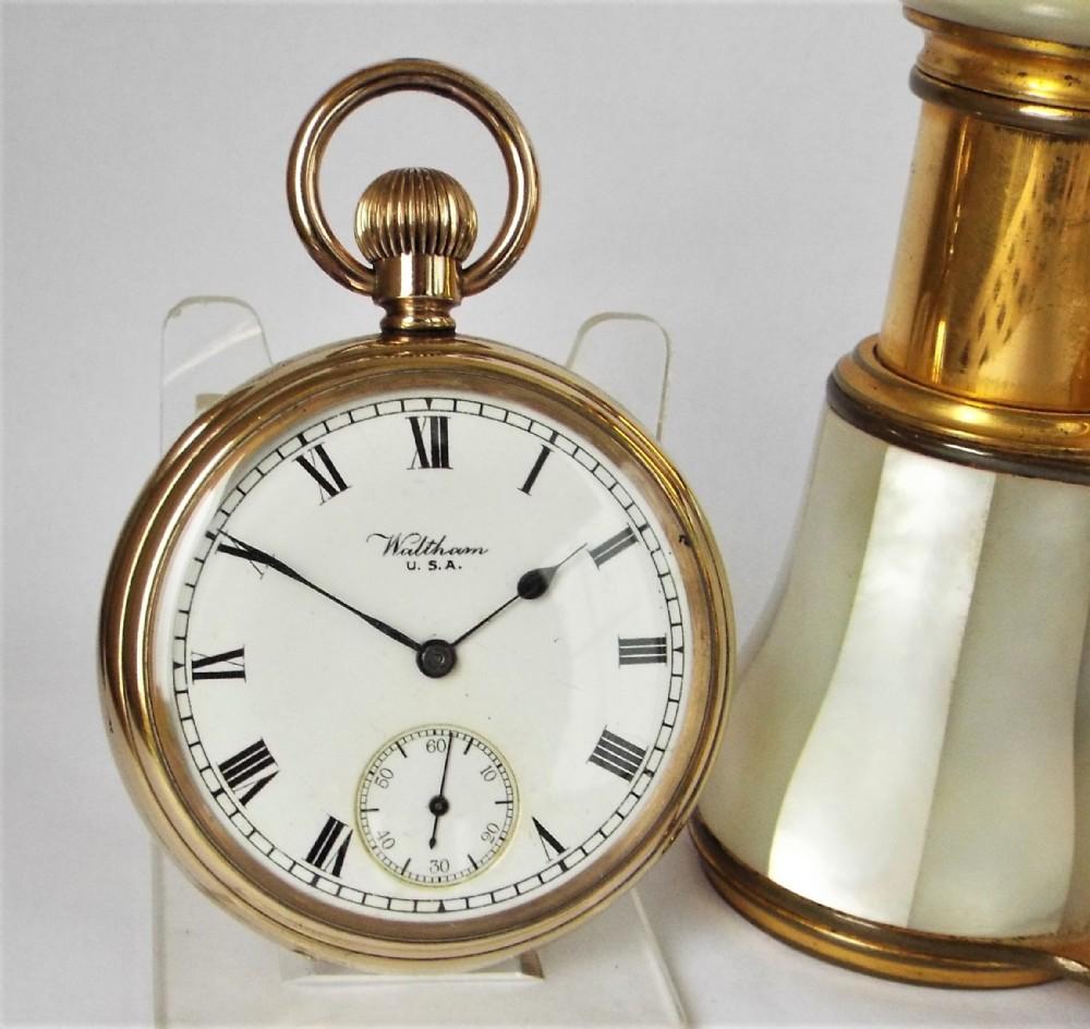 antique 1917 waltham pocket watch