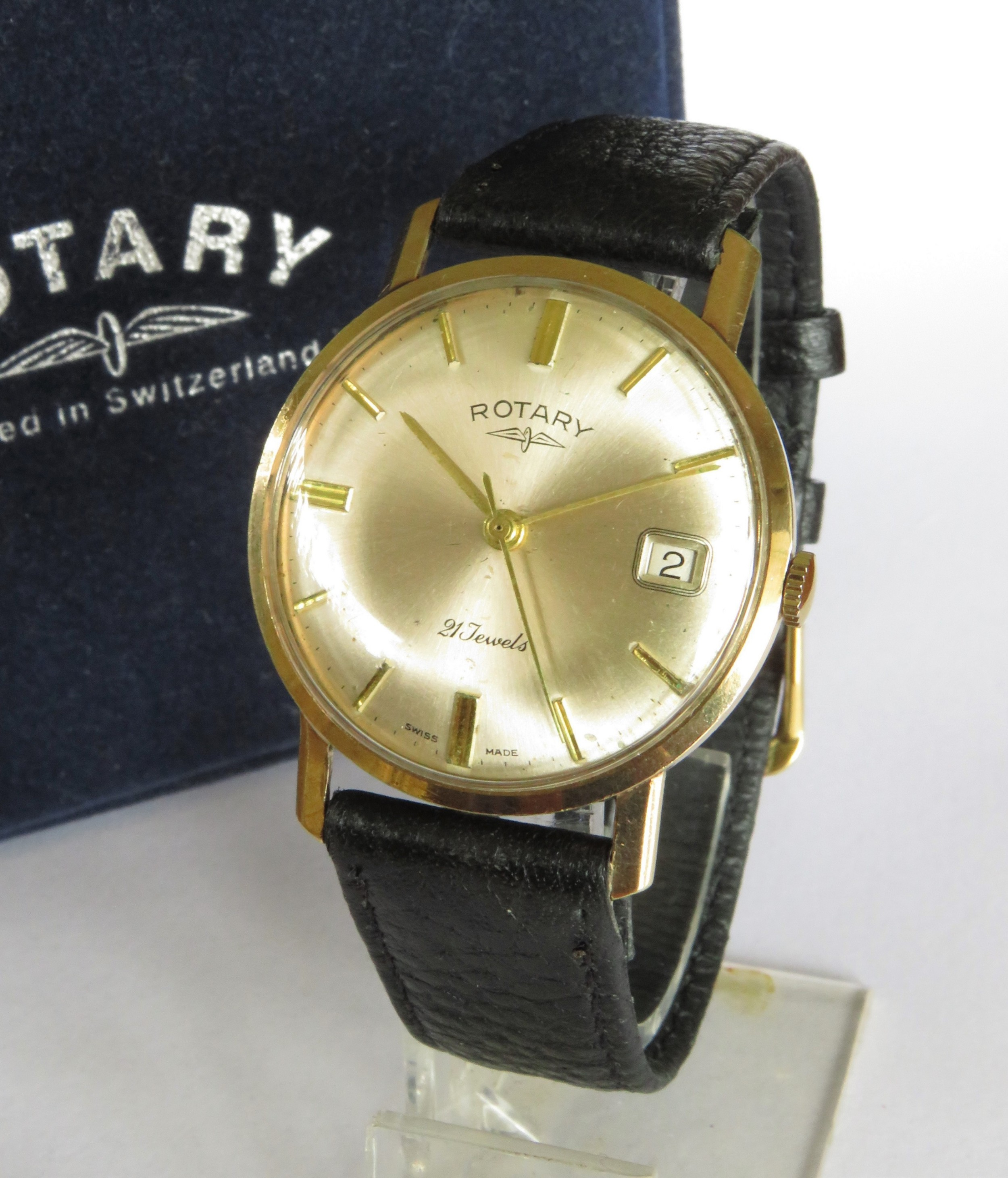 gents 9ct gold rotary wrist watch 1965
