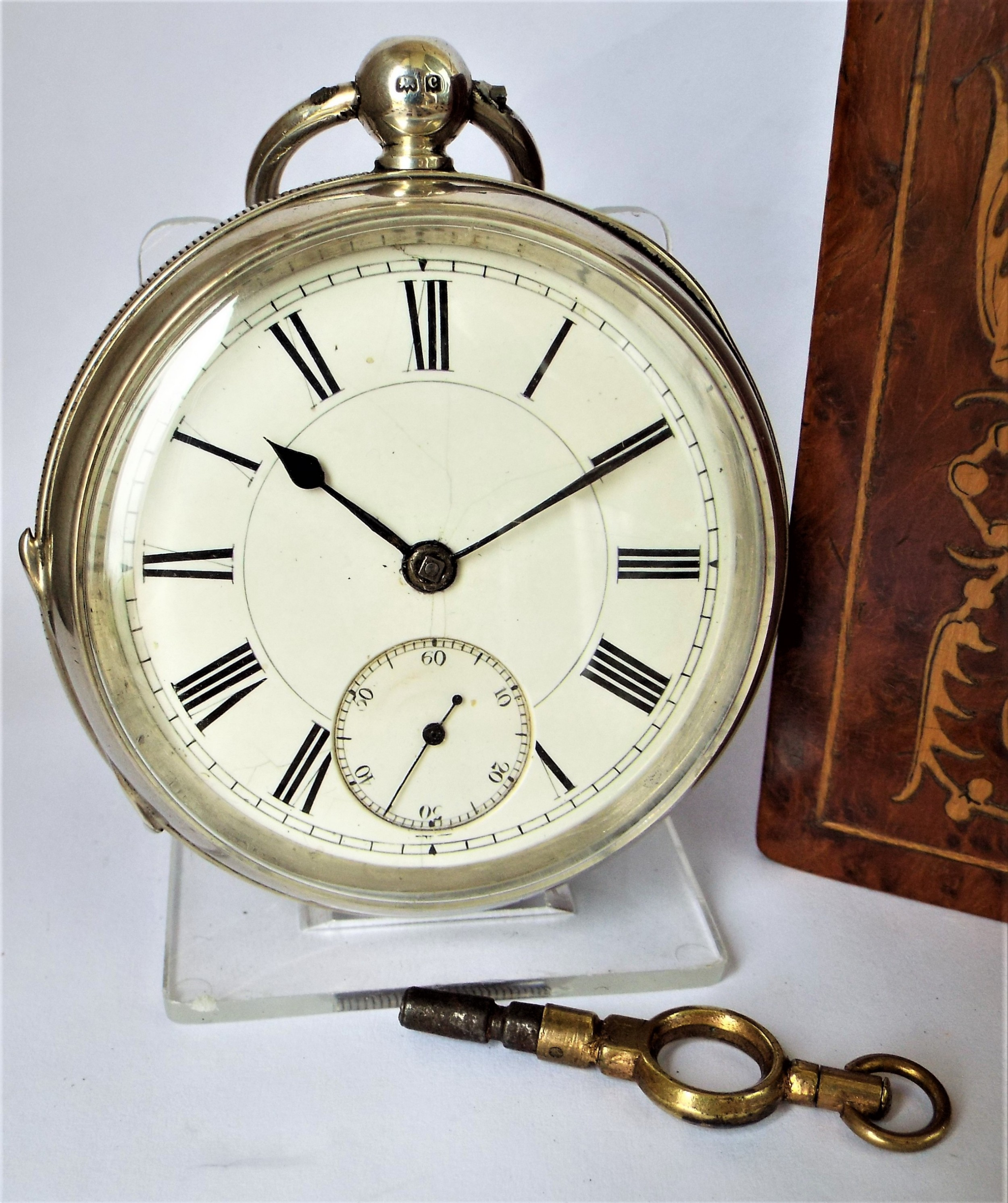 antique 1902 english silver pocket watch