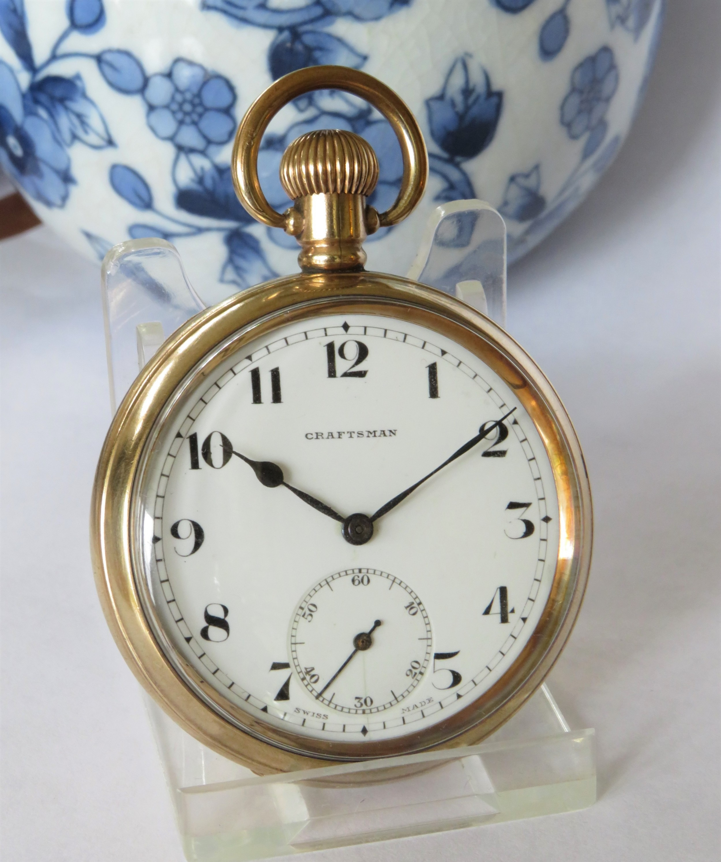 1930s craftsman gold plated pocket watch
