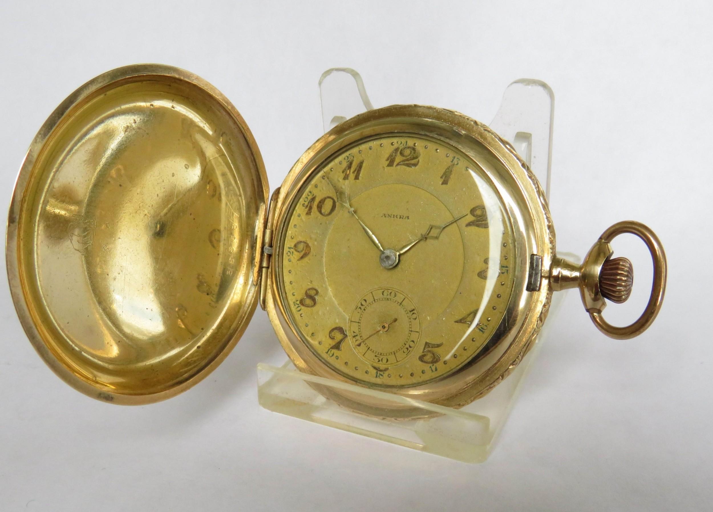 1930s favor full hunter pocket watch