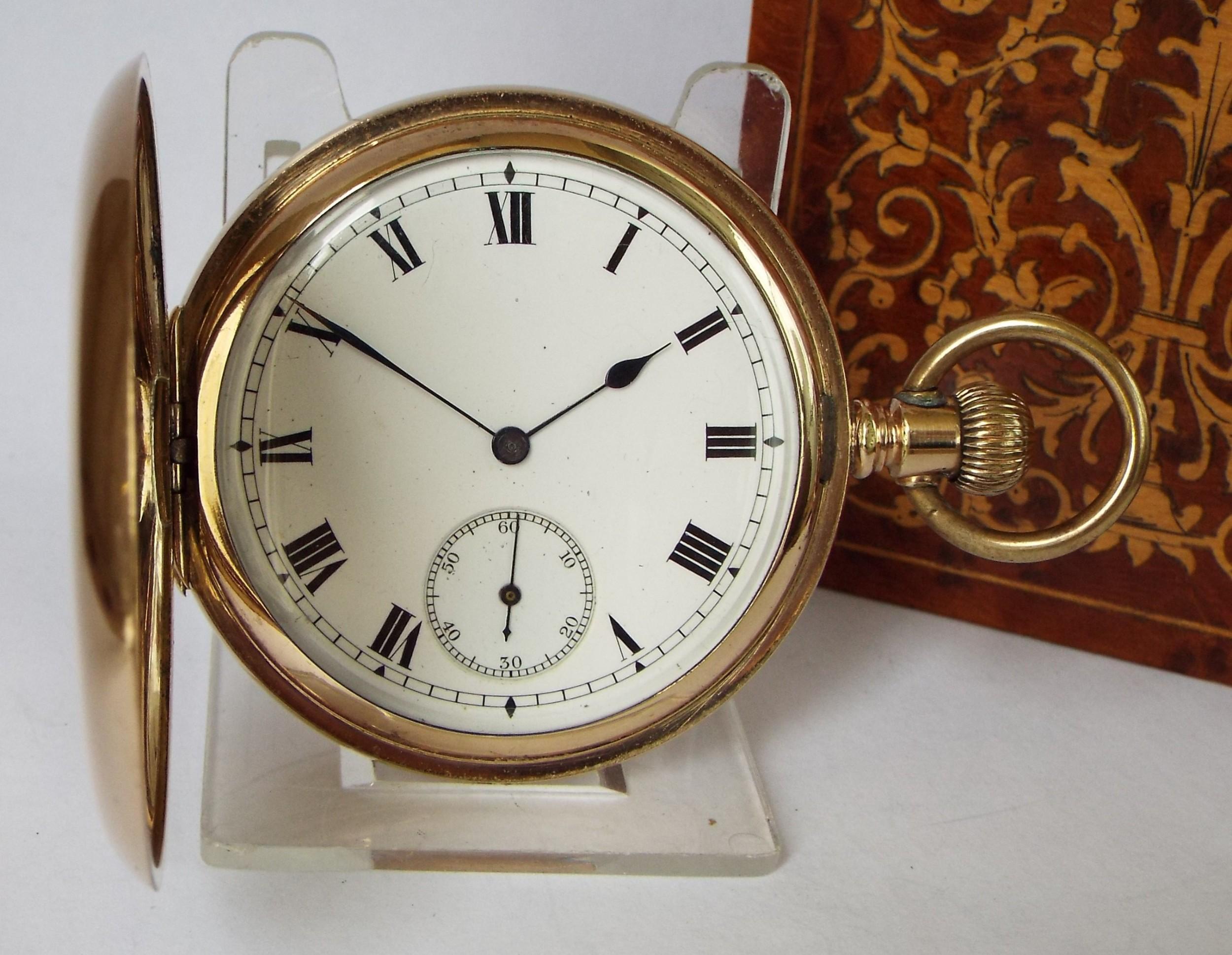 antique 1909 elgin full hunter pocket watch