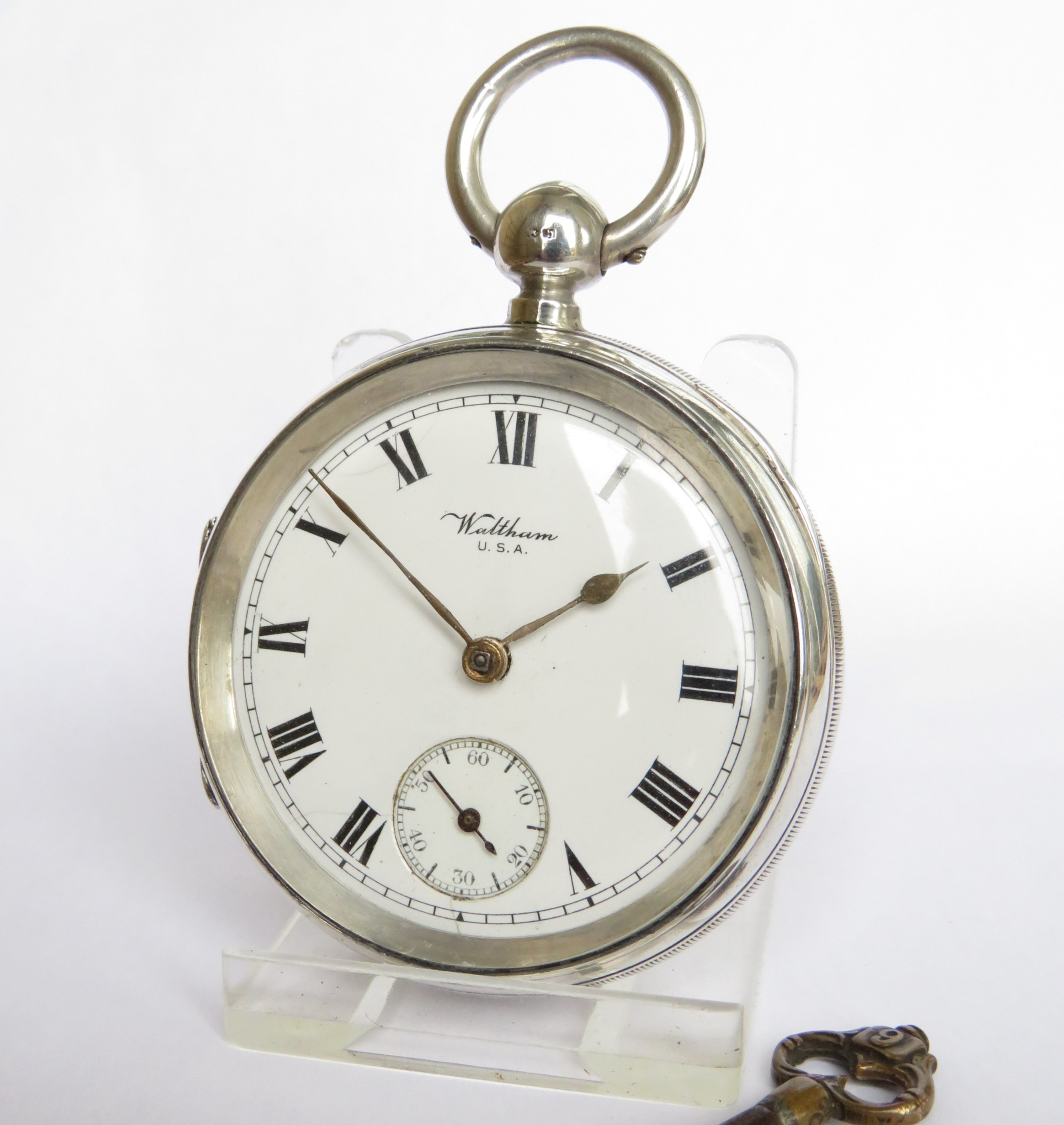 antique silver waltham pocket watch